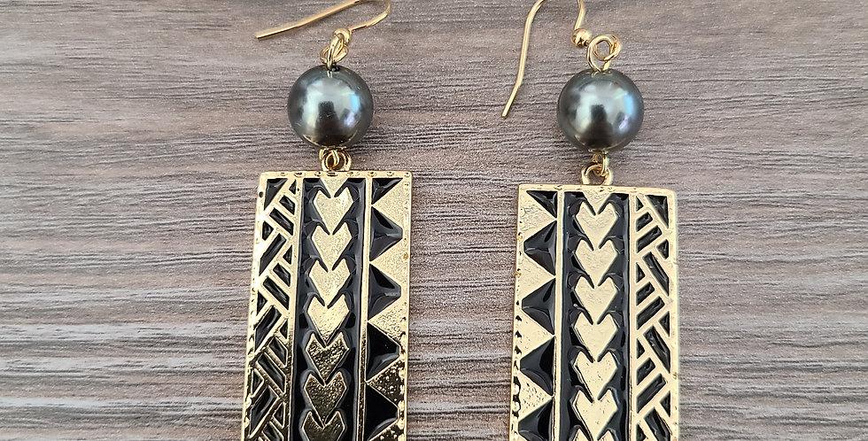 Rectangle Tribal Earrings