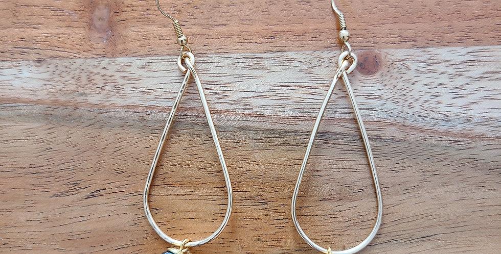 Tear Hoop Wire Earrings