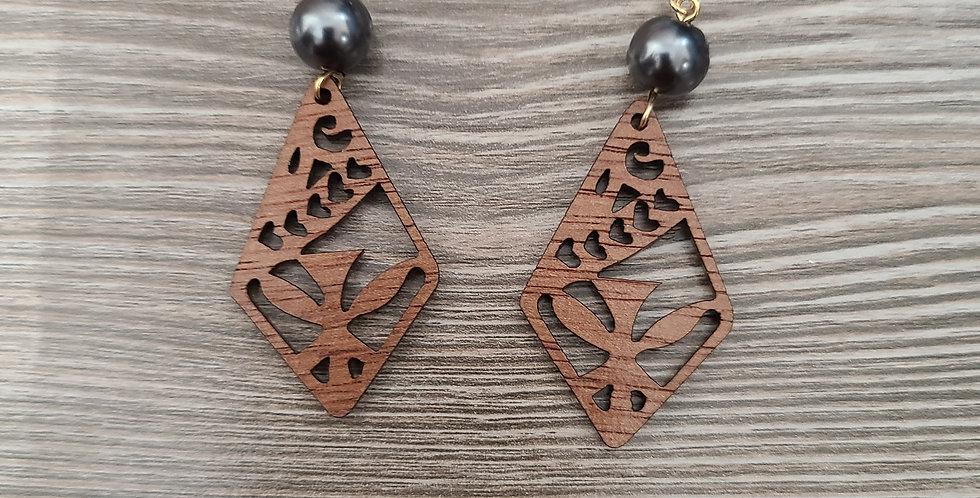Kanaka Diamond Sandlewood Earrings
