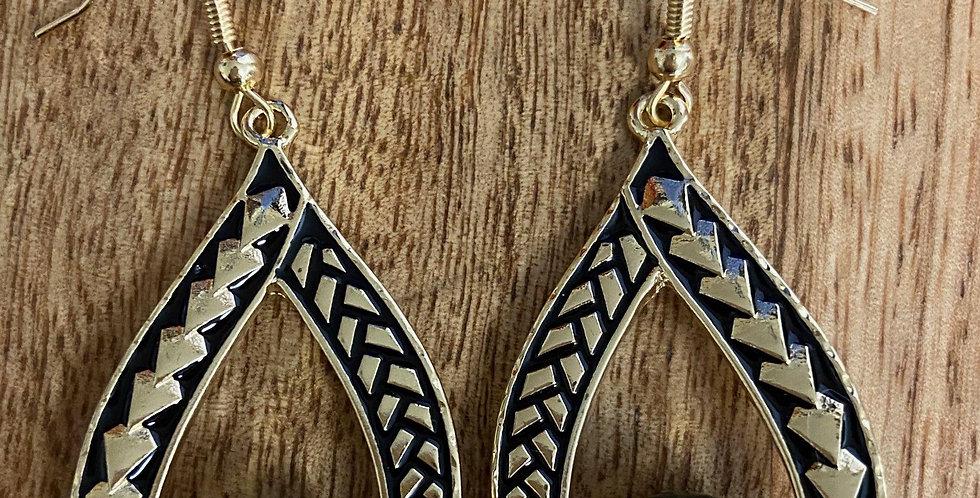 Tribal Tear Hoop Earrings