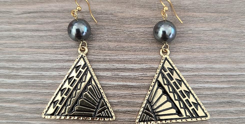 Triangle Tribal Earrings