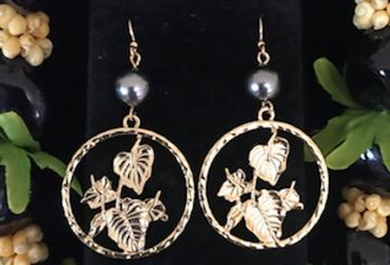 Tropical Flowers Hoop Earrings
