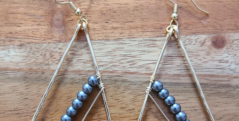 Triangle Wire Earrings