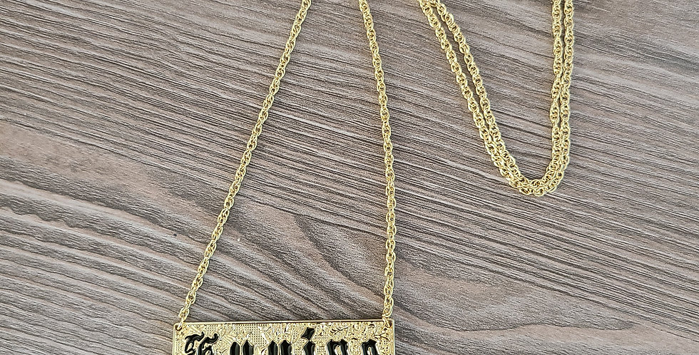 """Kuuipo Gold Plated Adjustible Necklace (22"""" to 24"""")"""