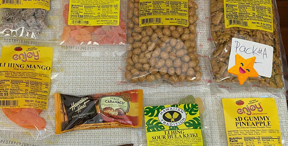 Hawaii Assorted Snack Pack 'A'