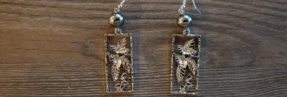 Silver Kukui Nut Earrings