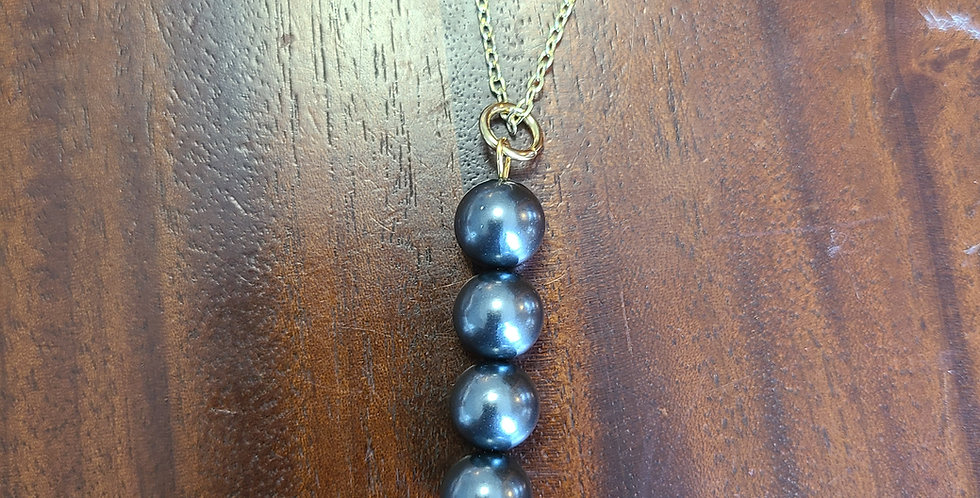 Pearl Drop Necklace w/ 4 Pearls