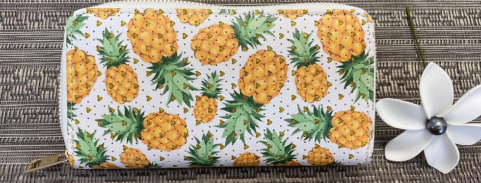 Hawaii Pineapple Wallet 8in x 4in