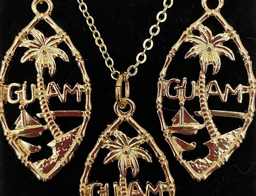 Guam Seal Earring and Necklace Set