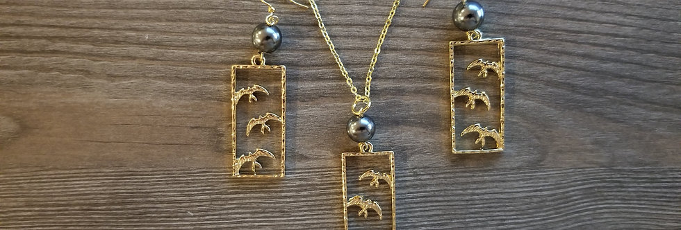 Seabird Earring and Necklace Set