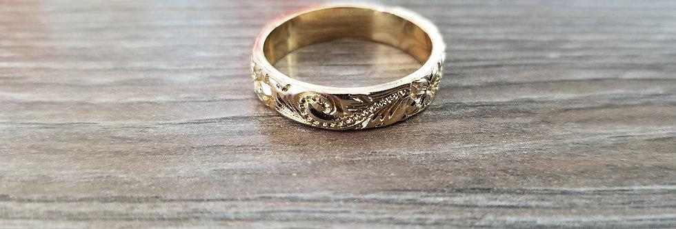 Hawaiian Heirloom Ring (14k Gold Plated)