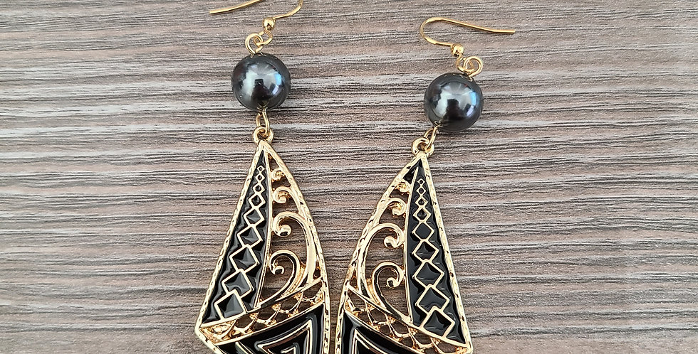 Sail Wave Tribal Earrings
