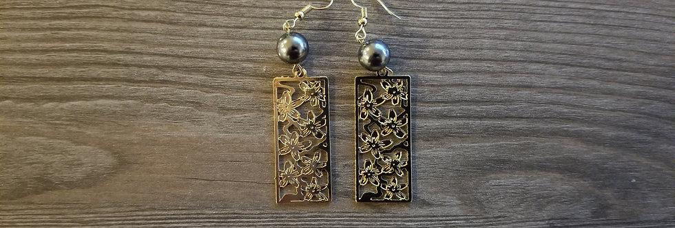 Cherry Blossom Earrings w/ Pearls