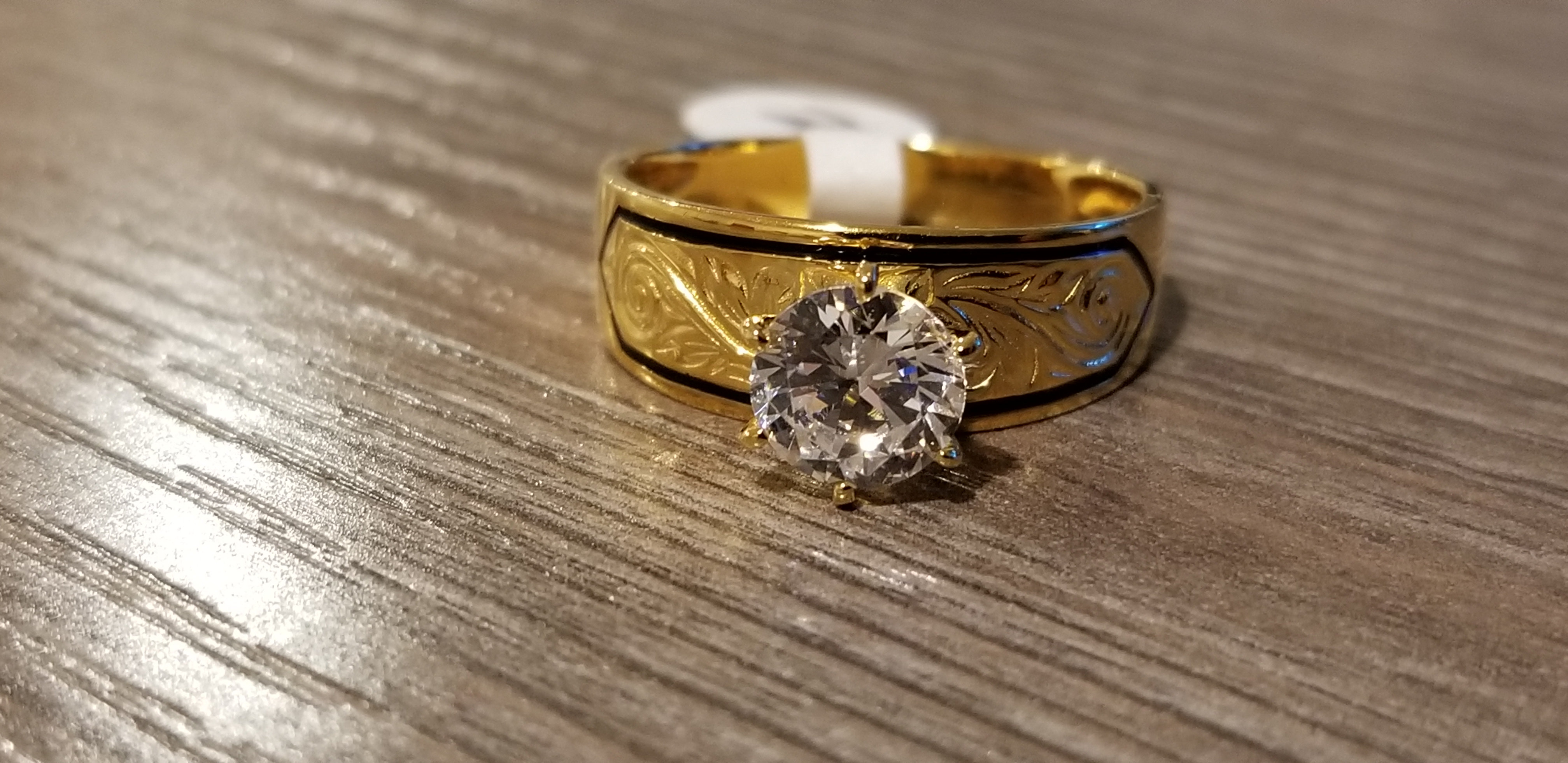 Sterling Silver 8 MM CZ Ring MSRP $62