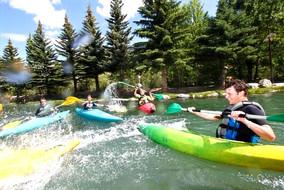 kayak en groupe