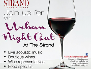 MARK YOUR CALENDARS - AN URBAN NIGHT OUT AT THE STRAND