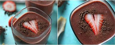 Çikolatalı Çilekli Smoothie