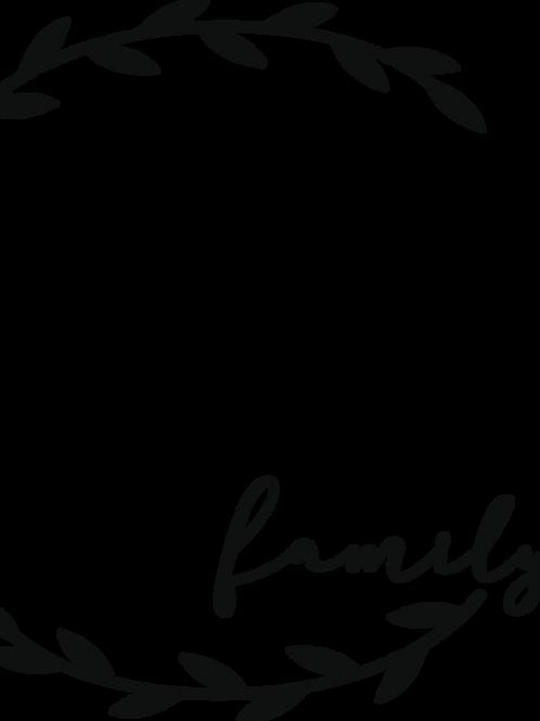 Custom Family Name Split Monogram #2