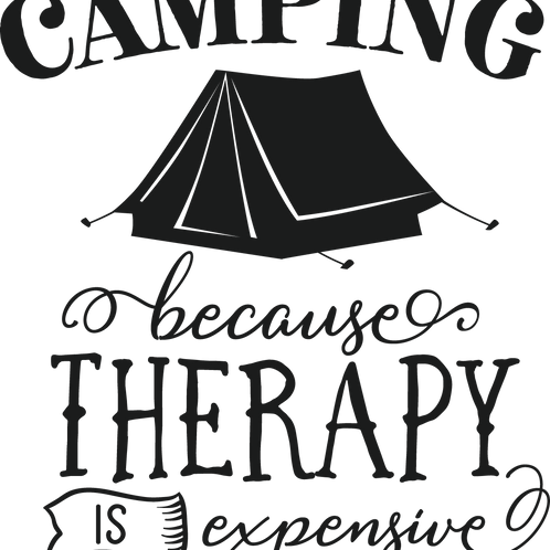 Outdoor Sign - Camping, Because Therapy Is Expensive