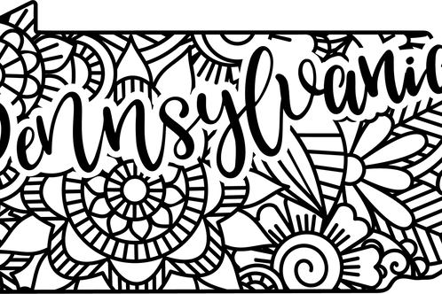Pennsylvania State Mandala Sign