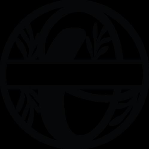 Floral Split Monogram Letter - O