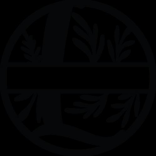 Floral Split Monogram Letter - L