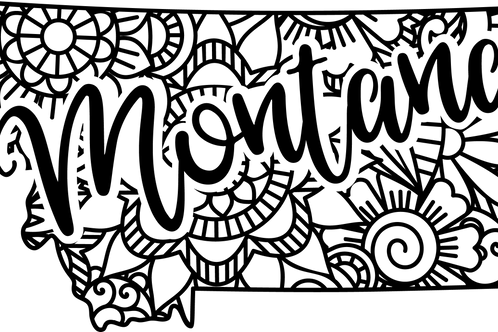 Montana State Mandala Sign