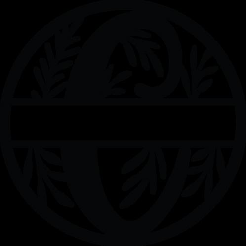Floral Split Monogram Letter -C