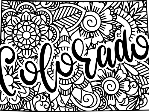 Colorado State Mandala Sign