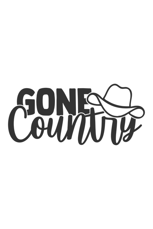 Outdoor Sign - Gone Country