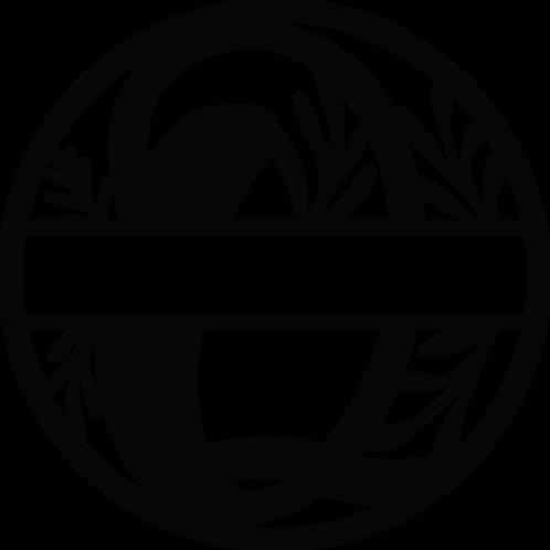 Floral Split Monogram Letter - Q