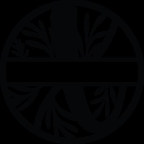 Floral Split Monogram Letter - X