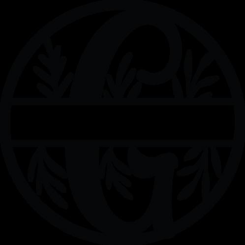 Floral Split Monogram Letter - G