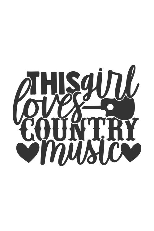 Outdoor Sign - This Girl Loves Country Music
