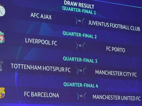 Datos Históricos de los cuartos de final de la UEFA CHAMPIONS LEAGUE 2018/2019