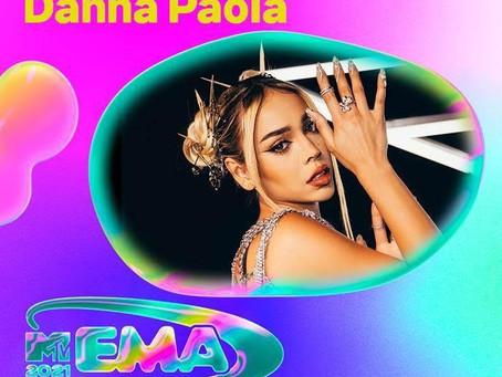 """DANNA PAOLA ESTÁ NOMINADA COMO """"MEJOR ARTISTA NORTE"""" DE LOS MTV EMA 2021"""