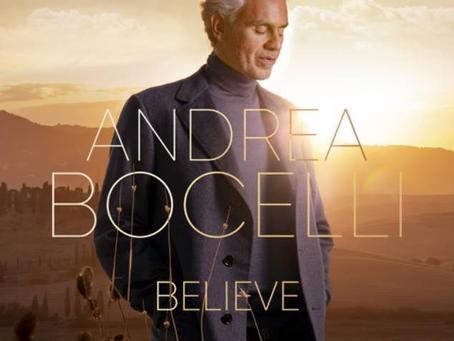 """Andrea Bocelli revela su nuevo álbum """"Believe"""", disponible el próximo 13 de noviembre"""