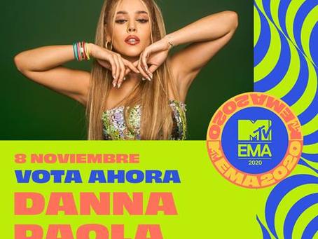 """¡Llegan las nominaciones de los MTV EMA 2020!-Danna Paola y Zoé nominados como """"Mejor Artista Norte"""