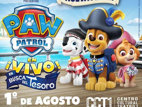 Debido al éxito PAW Patrol En busca del Tesoro! nuevamente en vivo el 1 de agosto.