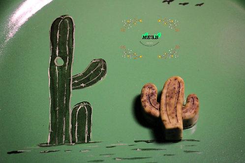Jabón con forma de cactus de Té Verde 5 piezas