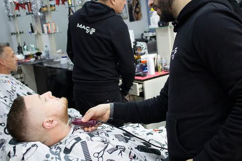 men's eyebrow and hair beard shaving tri