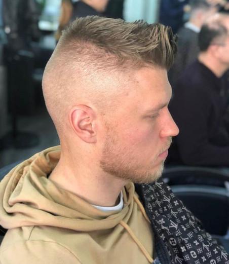 short hairstyle for men fade at mac's ha