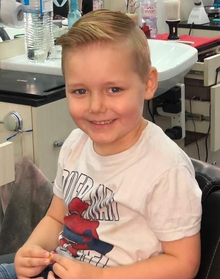 boy's haircut mac's hair & beauty salon.