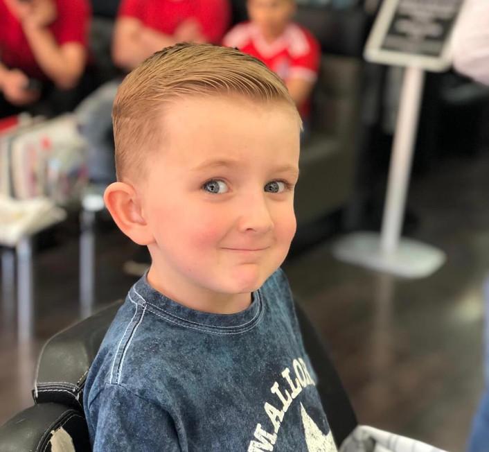 boys haircut at mac's hair and beauty sa