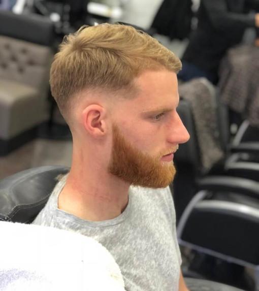 haircut and beard trim at mac's hair and