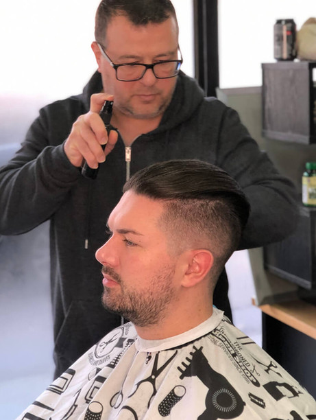 hairstyle and cut for gent's- mac's hair