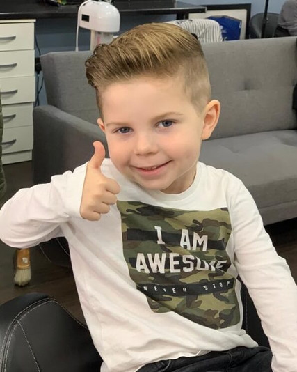 boy's haircut and styling -  mac's hair