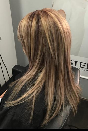 women long hair cut  - mac's hair & beau