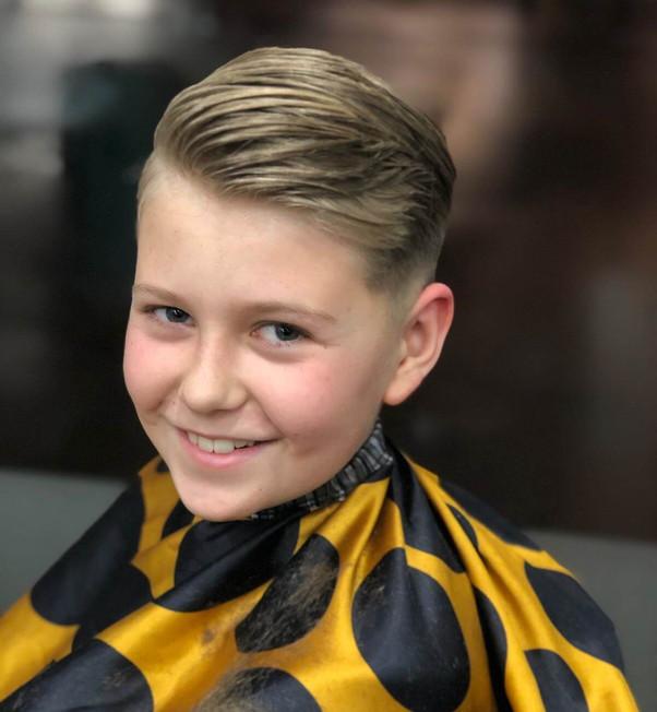 boys hair style and cut at mac's hair an