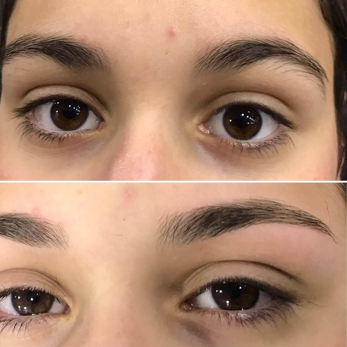 eyebrows threading  - mac's hair and bea